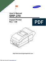 Samsung Srp-270 Receipt Printer SRP270AP