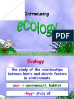 Honors Intro to Ecology