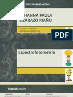 Johanna Paola Lizarazo Riaño Espectrofotometria