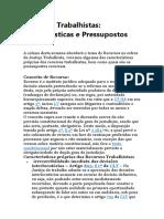 Recursos Trabalhistas - quais - apontamentos gerais.doc