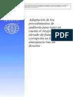 ISSAI 5530 - Adaptar procedimientos de auditoría para tener en cuenta el aumento del riesgo de fraude y corrupción en la fase de emergencia después de un desastre.pdf