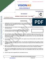 Vision IAS CSP 2019 Test 12 Questions