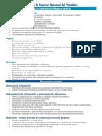 Temario de Examen Nacional Del Pronabec