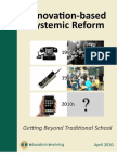 Innovation Based Systemic Reform