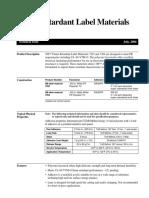 Flame Retardant Label Materials 7203 and 7204
