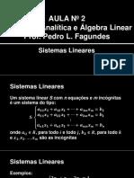 Videoaula 02 - Sistemas Lineares