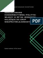 D. Puchała, Z. Kowalska, W. Jaroszewski - ODDZIAŁYWANIE KONSERWATYWNEJ POLITYKI WŁADZY III RP NA JEDNOSTKI NALEŻĄCE DO GRUP NIEUPRZYWILEJOWANYCH