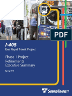 I-405 BRT Phase 1 Executive Summary