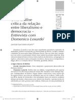 Domenico Losurdo - Uma análise da relação entre liberalismo e democracia