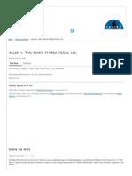 Allen v. Wal-mart Stores _ No. Civ. a. H-14-3628. _ 20150501n05 _ Leagle.com
