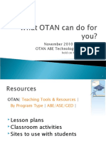 What OTAN Can Do for u - ABETBC Follow Up