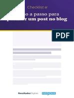 Como Publicar Um Post No Blog