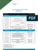 Programa de Congreso internacional ASME peru