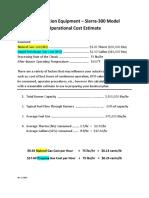 1d Operational Cost Estimate - Sierra-300 Pet - 2017