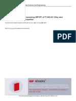 Multipass-friction Stir Processing MFSP of Ti-6Al