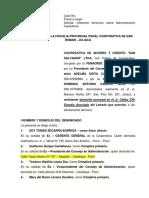 1er Escrito - Cooperativa de Ahorro y Credito San Salvador Ltda -Dagv