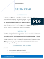 feasbility report