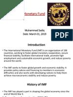 Muhammad SADIQ_IMF Presentation1