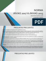 Norma Invias 2007 vs 2013