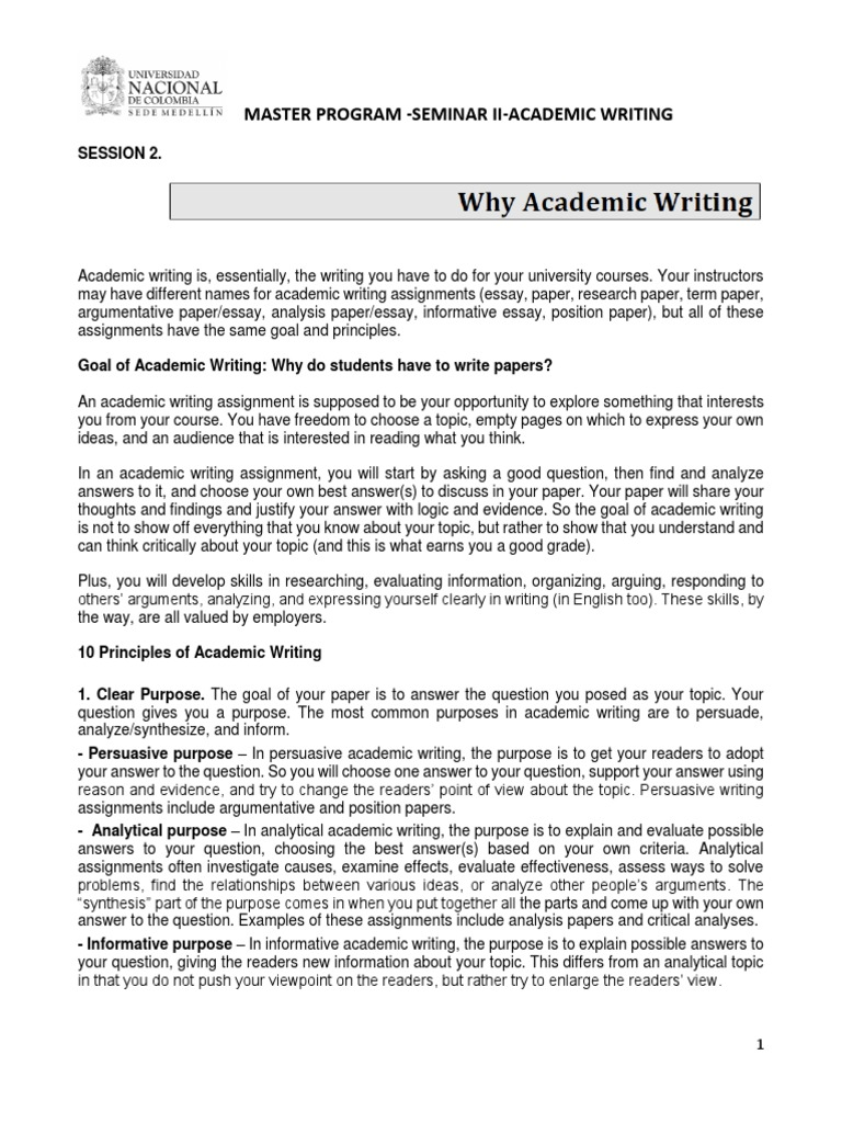 the basis of academic writingdocx  essays  citation