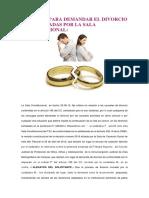CAUSALES PARA DEMANDAR EL DIVORCIO SON AMPLIADAS POR LA SALA CONSTITUCIONAL.docx