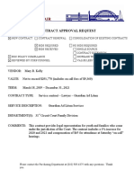 Contract approval request - Guardian Ad Litem