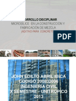 Microsìlice en La Construcciòn