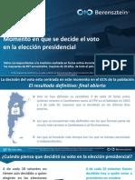 Informe Especial Decisión Del Voto- Abril 2019