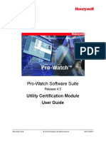 Pro-Watch 4.5 Utility Certification Module User Guide Oct 25 2018
