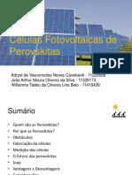 Aprsentação de Células Solares de Perovskita
