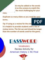 AM1 NC Final Review Password