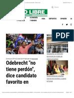 """Odebrecht """"no tiene perdón"""", dice candidato favorito en elección panameña - Metro Libre"""