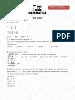 Matemática 7º Ano - Números Racionais