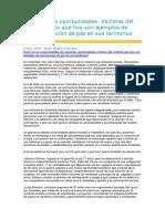 Victimas Del Conflicto y Emprendimientos Sociales en Colombia