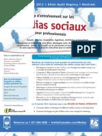 Médias sociaux pour professionnels