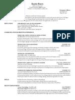 kaytie barry resume