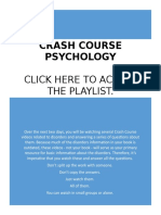 Crash Course Disorder Worksheets