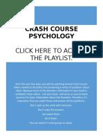 Crash Course Disorder Worksheets