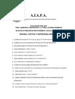 Archivo Preguntas Táctica y Estrategia Arbitral