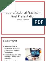 his professional practicum final presentation latasha marshall
