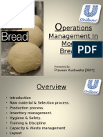 Operations Management in Modern Breads