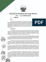 Resolución 001-2019