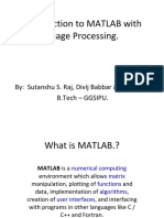 Introduction to MATLAB with Image Processing