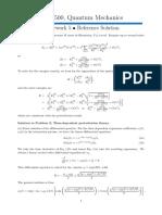 Solved Problems in Quantum Mechanics