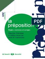 La Préposition, Règles, Exercises Et Corrigés.