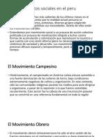 Los Movimientos Sociales en El Peru