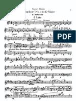 Mahler Symphony No. 1 Clarinet I