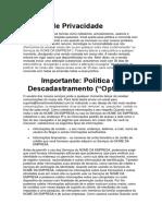 3 - Página Política de Privacidade - optimize press