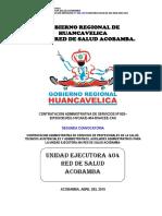 Concurso Cas 02-2019 Red de Salud Acobamba