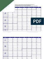 2011 Weekly Calendar